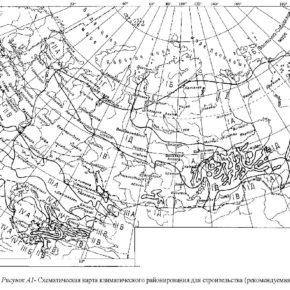 Как определить климатический район строительства?